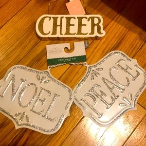 NEW Wondershop holiday ornaments